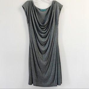 Velvet by Graham & Spencer Drape Tee Dress Gray L